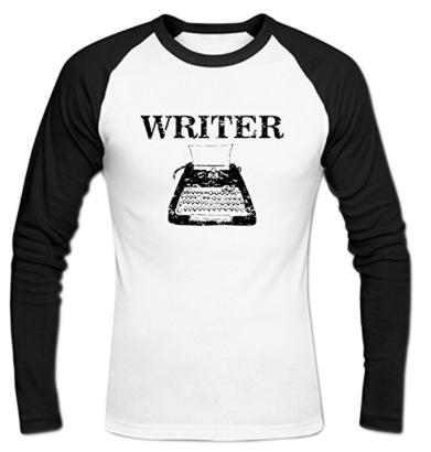 typewriter writing shirt