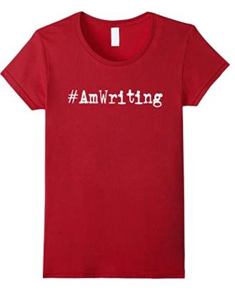 #amwriting hashtag writing shirt
