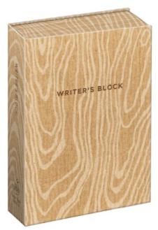 writer's block journal gift