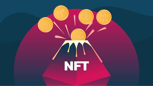 NFT volcano for books