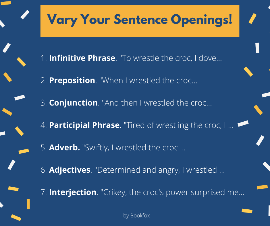 Vary your sentence openings